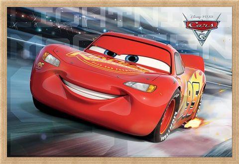 Framed Framed Lighting McQueen - Race Time - Cars 3