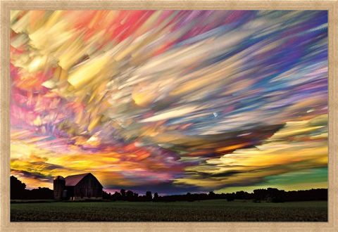 Framed Framed Pastel Clouds - Sunset Spectrum