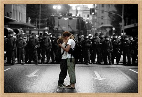 Framed Framed An Act of Defiance - Protest Kiss