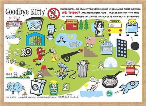 Framed Framed Goodbye Kittie Collage - David & Goliath Characters