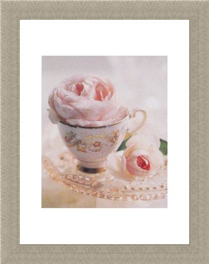 Framed Framed Pale Pink II - Lina Ricci