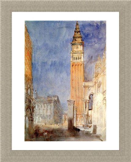 Framed Framed Piazzetta Di S. Marco - William Turner
