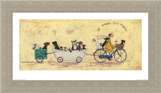 Framed Framed The Doggie Taxi Service - Sam Toft