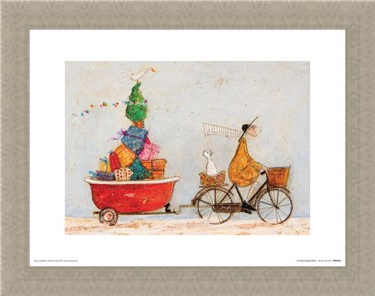 Framed Framed A Tubful of Good Cheer - Sam Toft