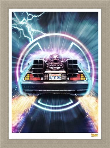 Framed Framed Delorean - Back To The Future