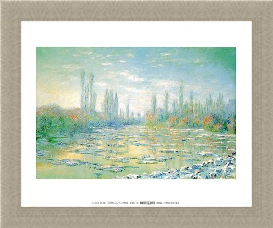Framed Framed Floating Ice - Claude Monet