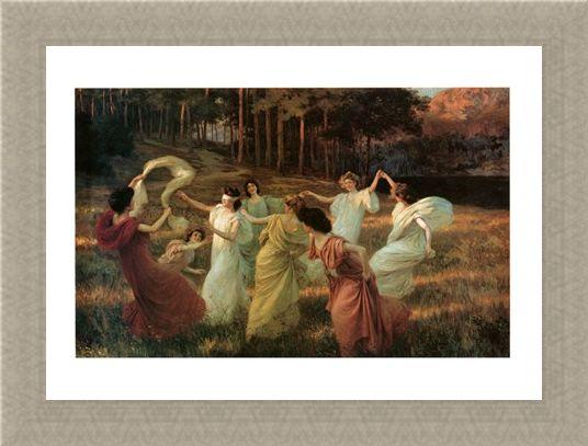 Framed Framed Springtime - Leopold Kowalsky