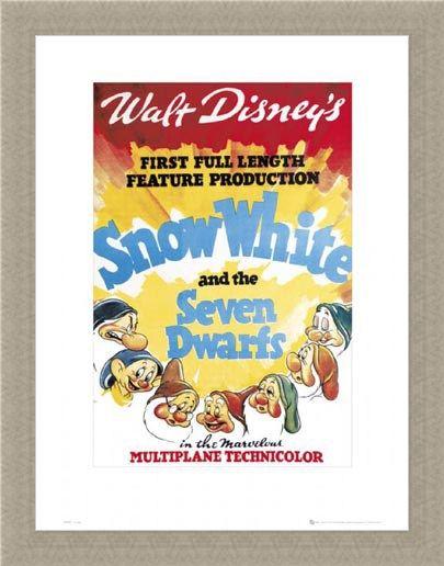 Framed Framed Snow White Original Movie Score - Walt Disney's Snow White and The Seven Dwarves