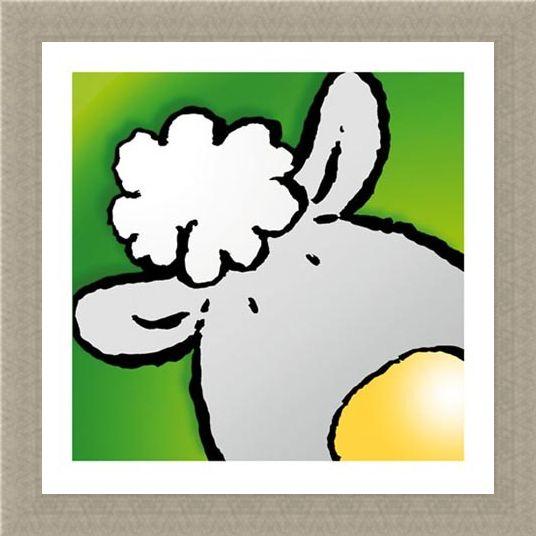 Framed Framed Sheep - Jean Paul