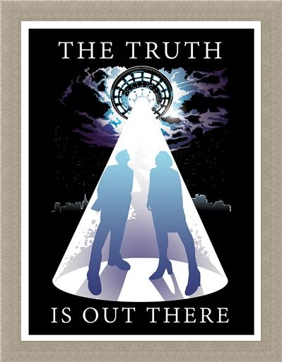 Framed Framed The Truth Is Out There Mini Poster - Inspired by The X Files