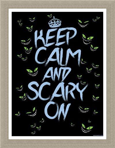 Framed Framed Keep Calm & Scary On Mini Poster - Keep Calm