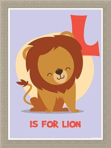 Framed Framed L...is for Lion - Fun Alphabet