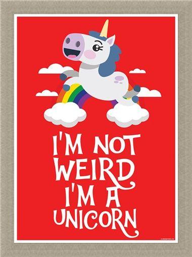 Framed Framed I'm Not Weird I'm A Unicorn -