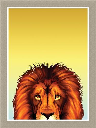 Framed Framed Loyal Lion - Inquisitive Creatures