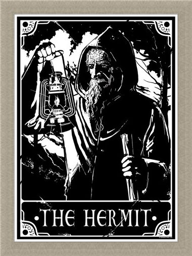 Framed Framed The Hermit - Deadly Tarot