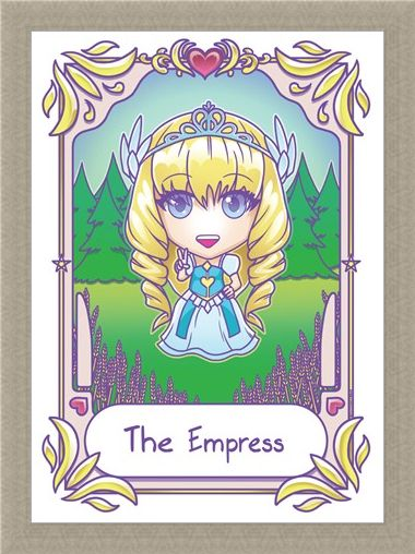 Framed Framed Kawaii The Empress - Deadly Tarot