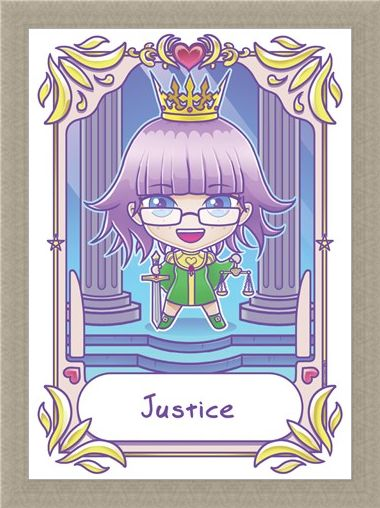 Framed Framed Justice - Deadly Tarot Kawaii