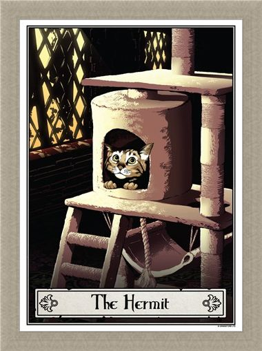 Framed Framed The Hermit - Deadly Tarot Felis