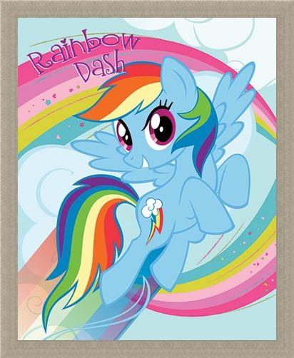 Framed Framed Rainbow Dash - My Little Pony