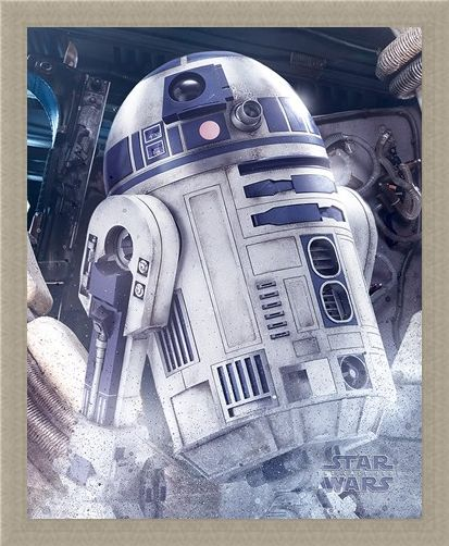 Framed Framed R2-D2 Droid - Star Wars The Last Jedi