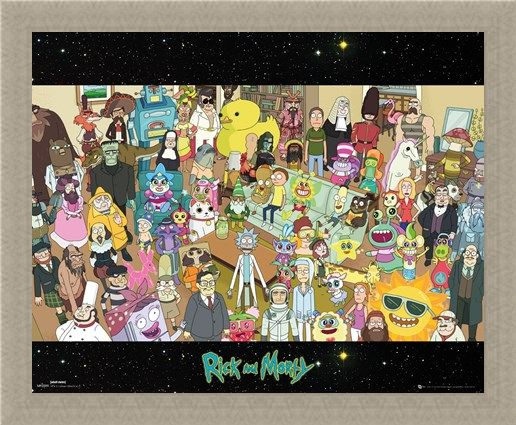 Framed Framed Cast - Rick and Morty