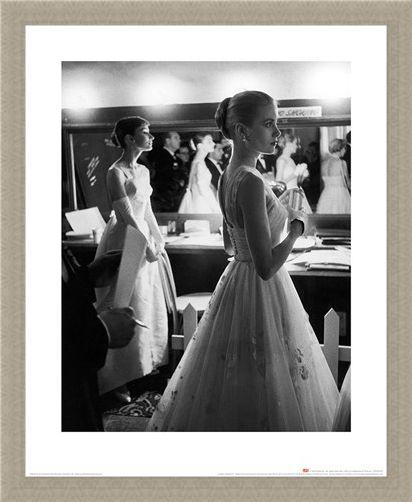 Framed Framed Audrey Hepburn & Grace Kelly - Time Life