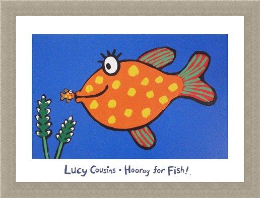 Framed Framed Hooray for Fish! - Lucy Cousins