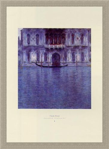 Framed Framed The Count's Palace - Palazzo Contarini - Claude Monet
