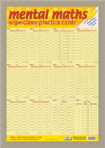 Framed Framed Mental Maths - Wipe Clean Practice Cards