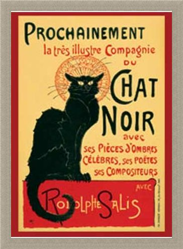 Framed Framed Tournee du Chat Noir (Turn of the Black Cat) - Theophile Alexandre Steinlen