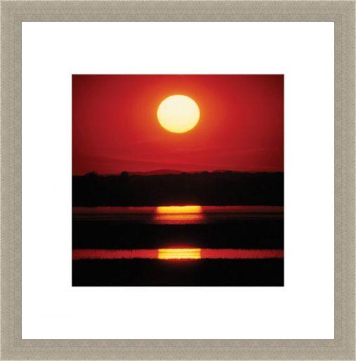 Framed Framed Triple Sunset - Reflections at Dusk