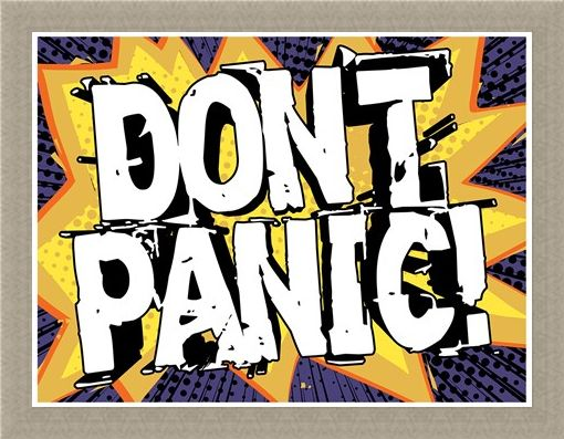 Framed Framed Don't Panic - Pop Art Style