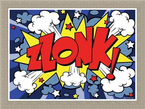 Framed Framed Comic Style Explosion - Zlonk!