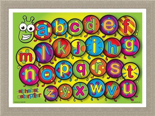 Framed Framed The Alphabet Caterpillar - Learn the Alphabet in Style