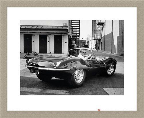 Framed Framed Steve McQueen - Jaguar - Time Life