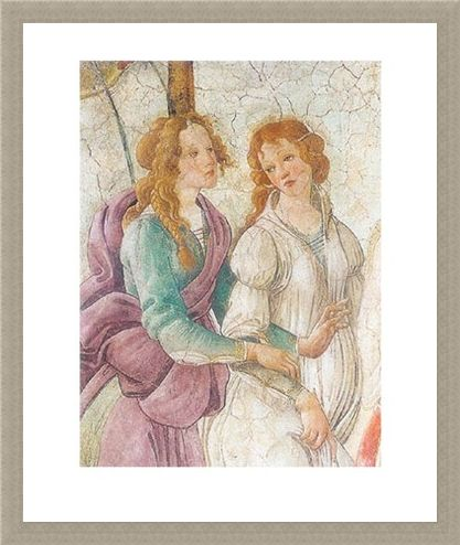 Framed Framed Venus Offers Gifts - Sandro Botticelli