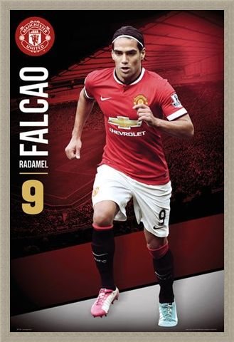 Framed Framed Radamel Falcao - Manchester United Football Club