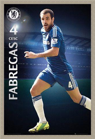 Framed Framed Cesc Fabregas - Chelsea Football Club