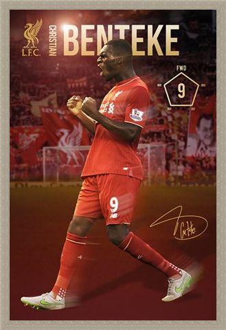 Framed Framed Christian Benteke 2015/16 - Liverpool Football Club