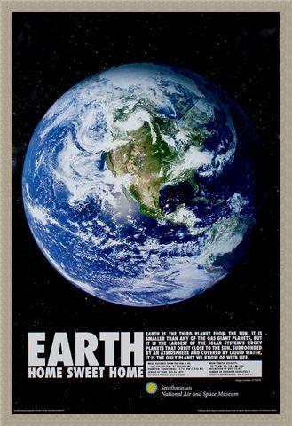Framed Framed Home Sweet Home - Planet Earth