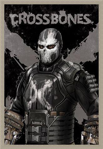 Framed Framed Crossbones - Captain America Civil War
