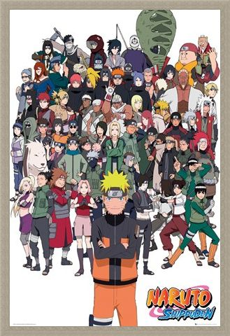 Framed Framed Shippuden Group - Naruto