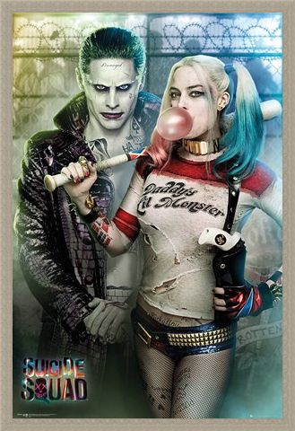 Framed Framed Joker And Harley Quinn - Suicide Squad