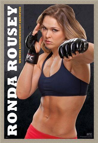 Framed Framed Ronda Rousey - UFC