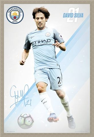 Framed Framed David Silva 16/17 - Manchester City