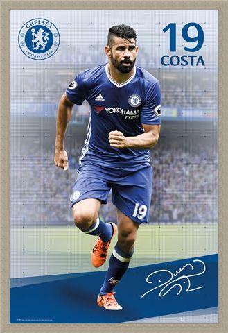 Framed Framed Diego Costa 2016/2017 - Chelsea F.C