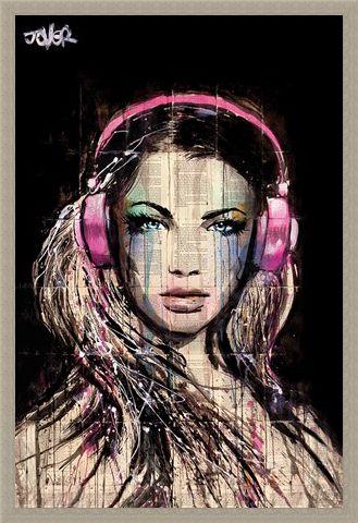 Framed Framed DJ Girl - Loui Jover
