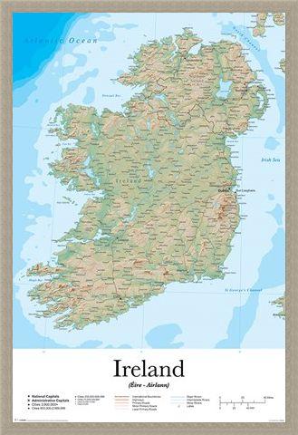 Framed Framed Emerald Isle - Map Of Ireland