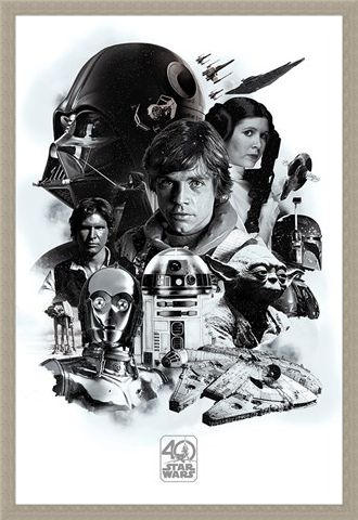 Framed Framed 40th Anniversary Montage - Star Wars