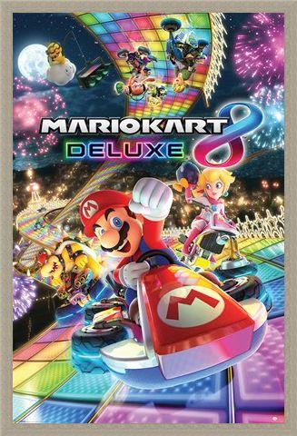 Framed Framed Intergalactic Disco - Mario Kart 8 Deluxe